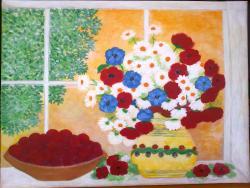 Picturi de vara Vara la fereastra