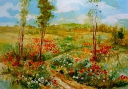 Picturi de vara Dubrava cu flori