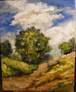 Picturi de vara Studiu cu copac si drum