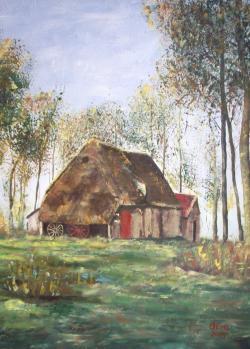 Picturi de vara Casa din padure