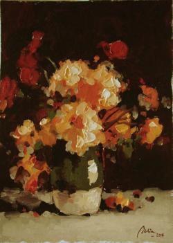 Picturi de vara flori in cana de lut2