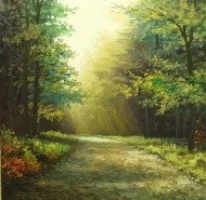 Picturi de vara Dimineata verde