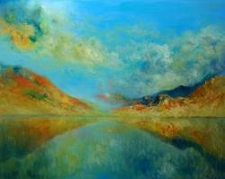 Picturi de vara peisaj atmosferic