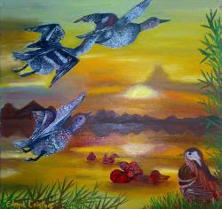 Picturi de vara Danubian landscape