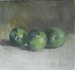 Picturi de vara prune verzi
