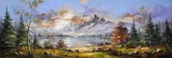 Picturi de vara Peisaj montan