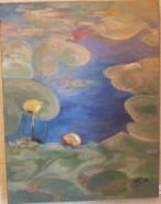 Picturi de vara Nuferi galbeni, periprava