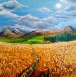Picturi de vara Fericire in lanul de grau