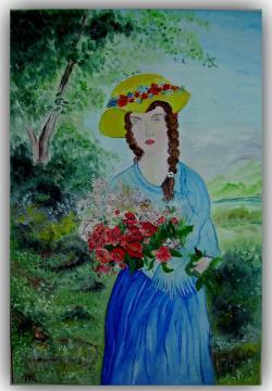 """Picturi de vara """"Dama cu flori"""""""