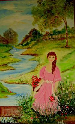 "Picturi de vara ""Fata in roz"""