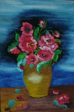 Picturi de vara Flori de ziua ta