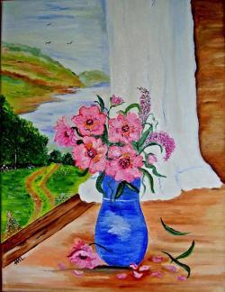 Picturi de vara La fereastra