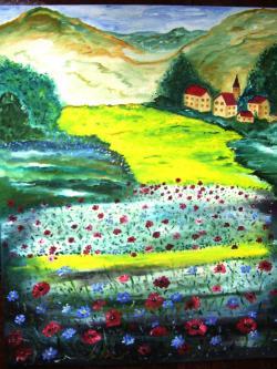 Picturi de vara La marginea satului