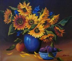 Picturi cu flori Flori cu soare