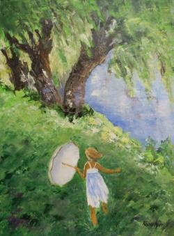 Picturi de vara Pe malul raului
