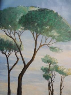 Picturi de vara Pini mediteraneeni