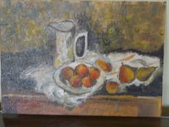 Picturi de vara Cana si fructe