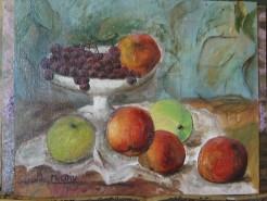 Picturi de vara Cos cu fructe