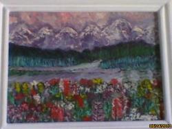Picturi de vara poienita cu flori