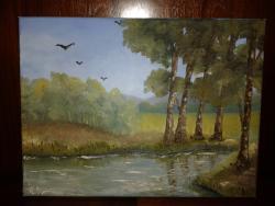 Picturi de vara Intre copaci