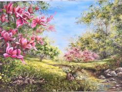 Picturi de vara Magnolia 2