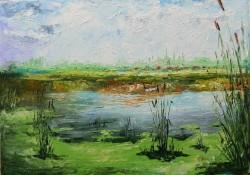 Picturi de vara Matase verde