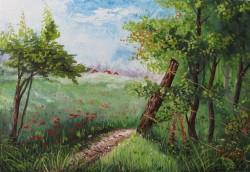Picturi de vara Paradisul verde
