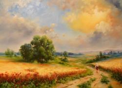 Picturi de vara Vremea secerisului 2016