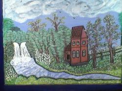 Picturi de vara cascada din padure