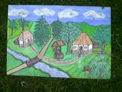 Picturi de vara margine de sat din Bucovina