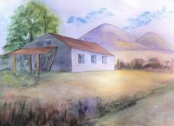 Picturi de vara La poalele muntelui