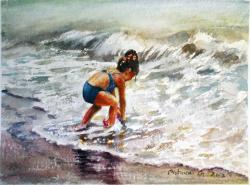 Picturi de vara fetita la mare
