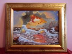 Picturi de vara Apus de soare la mare