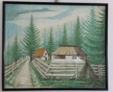 Picturi de vara Casuta din padure