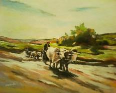 Picturi de vara Car cu boi-grigorescu