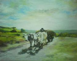 Picturi de vara car cu boi 4 grigorescu
