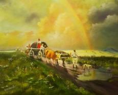 Picturi de vara Curcubeul-dupa ploaie