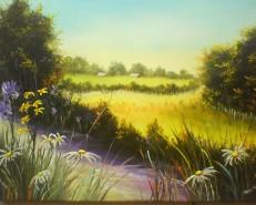 Picturi de vara Drum cu flori