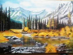 Picturi de vara peisaj de munte 3