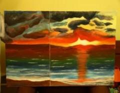 Picturi de vara Marea la apus