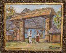 Picturi de vara Poarta in maramuresul istoric
