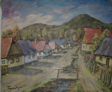 Picturi de vara Strada veche in baia mare