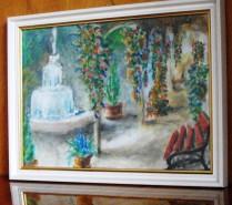 Picturi de vara Peisaj cu fantana arteziana