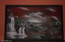 Picturi decor  tablou 3d, in relief, semnat