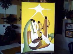 Picturi decor Nasterea Domnului -stilizare