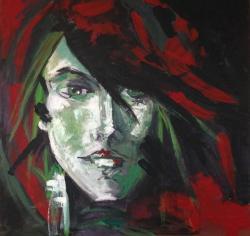 Picturi decor Fata roscata