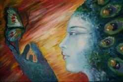 Picturi decor Fata paun