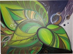 Picturi decor Abstract green