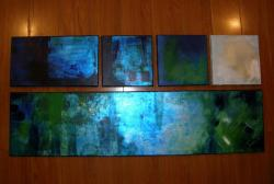 Picturi decor light blue