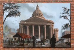 Picturi decor Pantheonul din Paris in sec. XIX